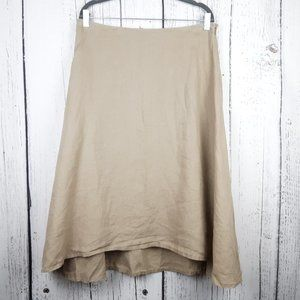 Eileen Fisher Irish Linen Cotton Skirt Size Medium
